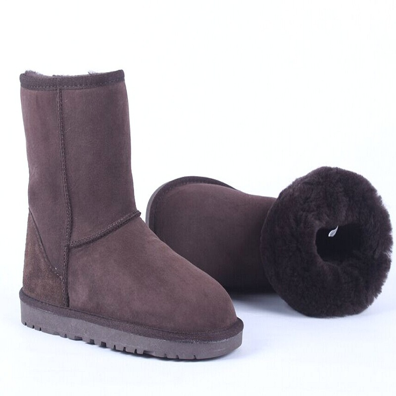 Plus Size Genuine Leather Women boots,Super Warm Winter Boots,Solid leather Australia Boots,Fashion Women Snow Boots(China (Mainland))