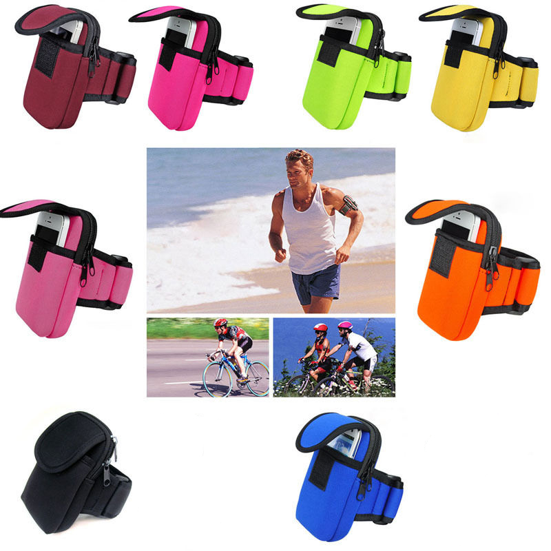Sports Arm Bag Outdoor Running Mobile Phone Money Coin Keys Package for Men and Women(China (Mainland))