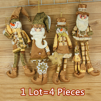 "Drop Shipping,2014 New Arrival,wholesale 4 pcs lot 15"" Christmas Hanging Ornaments Decoration Santa Claus Snowman,SHB057"