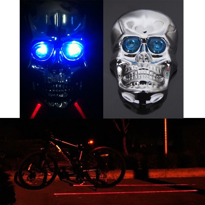 Super Sale!!1 Piece Cycling Bicycle Bike Handlebar End Red LED Plug Light Safety Lamp 4-Colors Free shipping(China (Mainland))