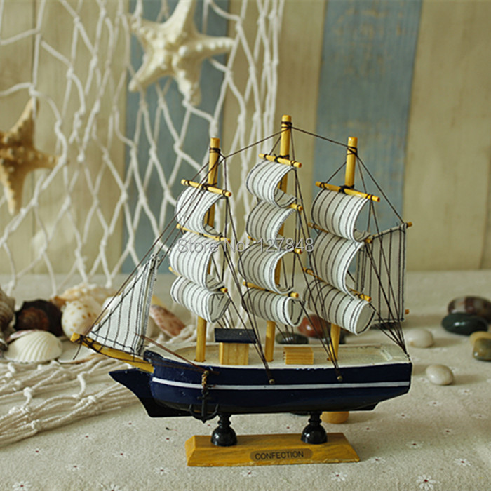 The Mediterranean-style retro ornaments pirate ship model wooden sailboat fashion den living room ornaments(China (Mainland))