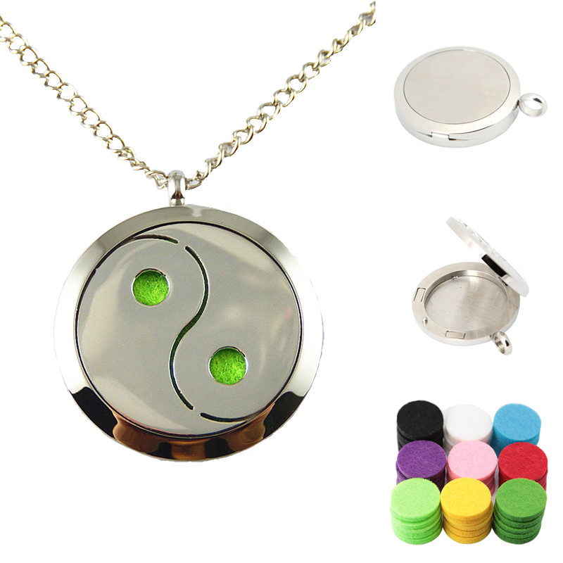 1pcs Creative Man Round Chain Necklace Top Stainless steel hollow Aromatherapy Perfume Pendant 30mm Charm jewelry Dec Gift CJ866(China (Mainland))