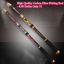 1x Exclusive Carbon fiber Telescopic Sea fishing rod 2.1/2.4/2.7/3.0/3.6 m MOST COST-EFFECTIVE fishing pole tackle free shipping