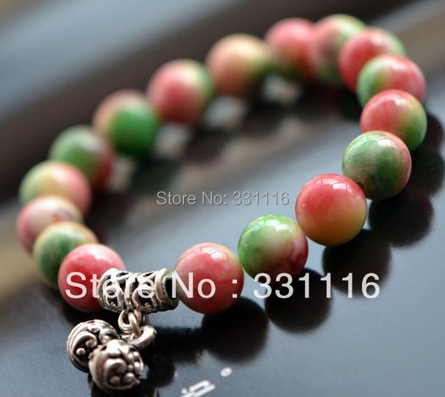 High quality Fashion Lapis Color jade bracelet enamel bracelet bead bangles Tibetan silver jewellery