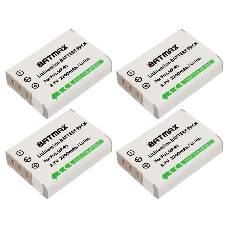 Batmax 4Pcs NP-95 NP 95 NP95 FNP95 Rechargeable Battery for Fujifilm X30 X100 X100S X100T XS1 Fujifilm FinePix F30 F31 3D W1(China (Mainland))