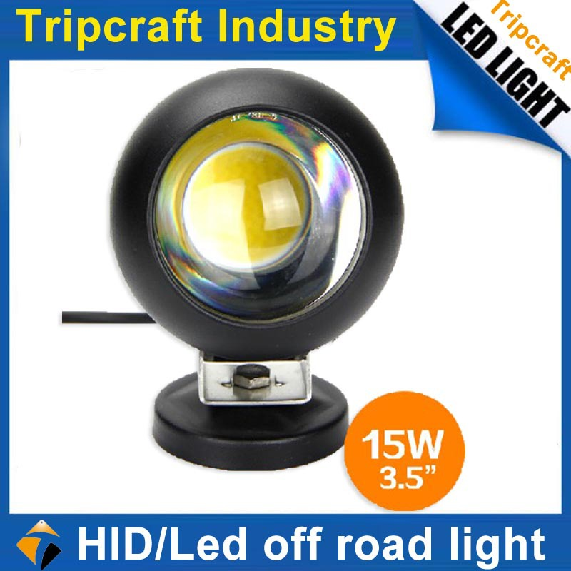 Фотография 50%DISCOUNT  Round high power 15W work lamp ATV Work lamp 12/24v LED WORK LIGHT
