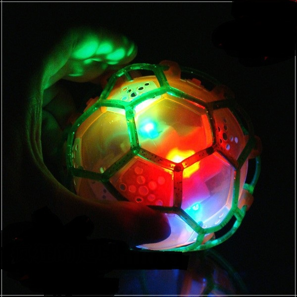 ABS LED Light Flashing\Musical Toy Multi-colored Funny football Toys light up toy CQ564543(China (Mainland))