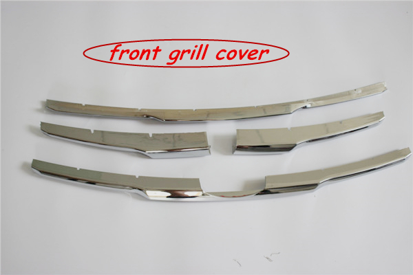 ABS Chrome molding Front Grill Cover Decoration Trim Car Sticker Chromium Styling Accessories For Toyota Hilux Vigo Champ 2012(China (Mainland))