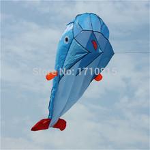 Di alta Qualità 3D Molle Enorme Parafoil Giant Dolphin Blu Kite Outdoor Sport Delfini Aquiloni facile Volare Frameless giocattoli volanti(China (Mainland))