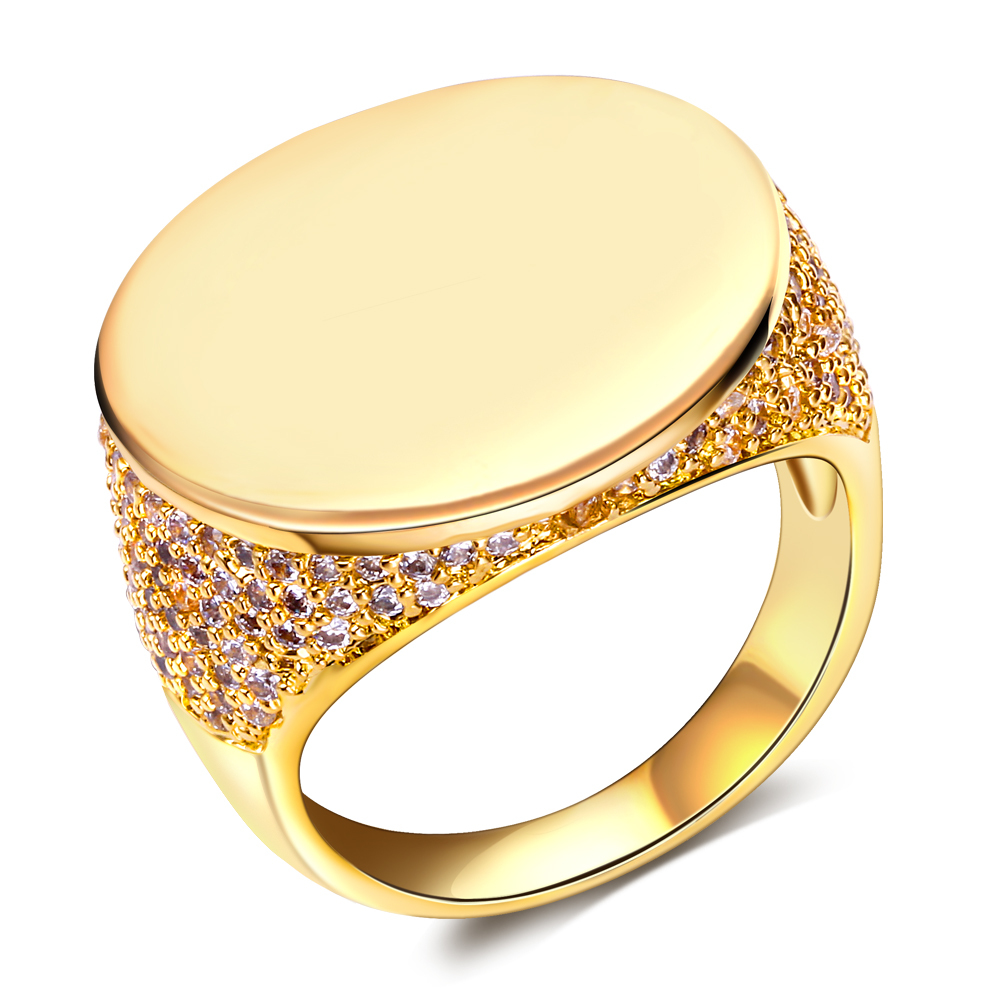 Fashion jewelry moon Rings gold plated w/ cubic zircon finger Ring high quality party rings for women free shipment(China (Mainland))