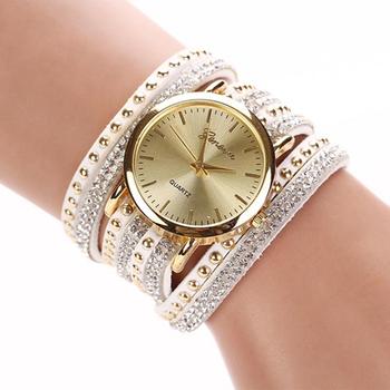 YAZOLE часы, женские наручные часы Леди Кристалл Кварцевые Часы Корейский Кристалл Заклепки Браслет костюм jewel Часы relojes mujer