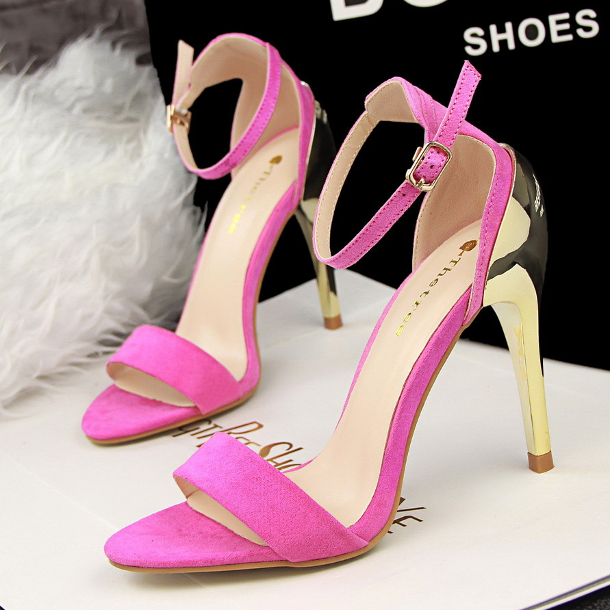 Fashion Summer Style Shoes Woman New 2015 High Heels Women Sandals Sexy Buckle Strap Gladiator Sandals For Women Ladies Shoes<br><br>Aliexpress