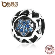 Buy BAMOER 925 Sterling Silver Vintage Blue STARS Beads Charms fit Women Bracelets & Bangles DIY Jewelry SCC057 for $6.88 in AliExpress store