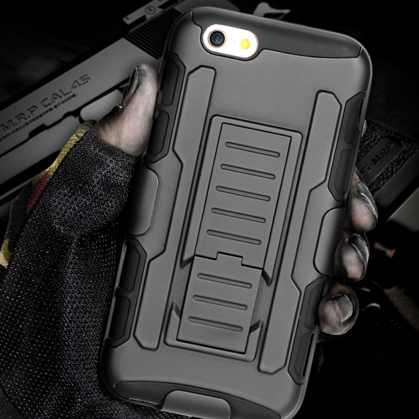 6+ Military Future Armor Case Combo Impact Holster For Iphone 6 Plus 5.5inch Hybrid Triple Full Stand Cover For Iphone 6 Bigger(China (Mainland))