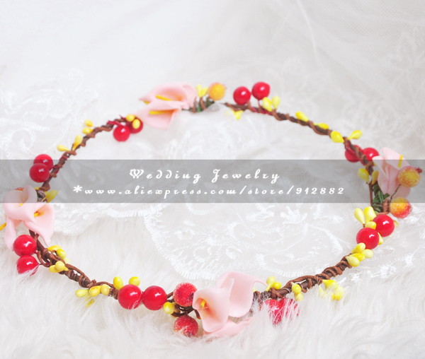 Headband [wholesale] Wreath Rustic 2015 New Design Handmade Tan Wave Daylife Spring Wedding Vine Vacation Beach Hair Accessory(China (Mainland))