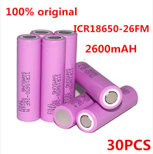 Buy 30Pcs 18650 3.7V battery 2600mAh 18650 rechargeable li-ion Battery ICR18650-26F ICR18650 26FM 2600 mAH batteries for $94.55 in AliExpress store