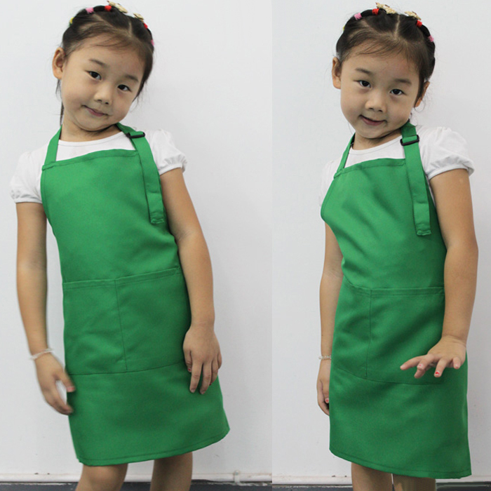 Wholesale 40pcs Express Little Chef Cute Kids Child Children Cooking Baking Tools Kitchen Dining Apron 7 COLORs Aprons / A3570(China (Mainland))