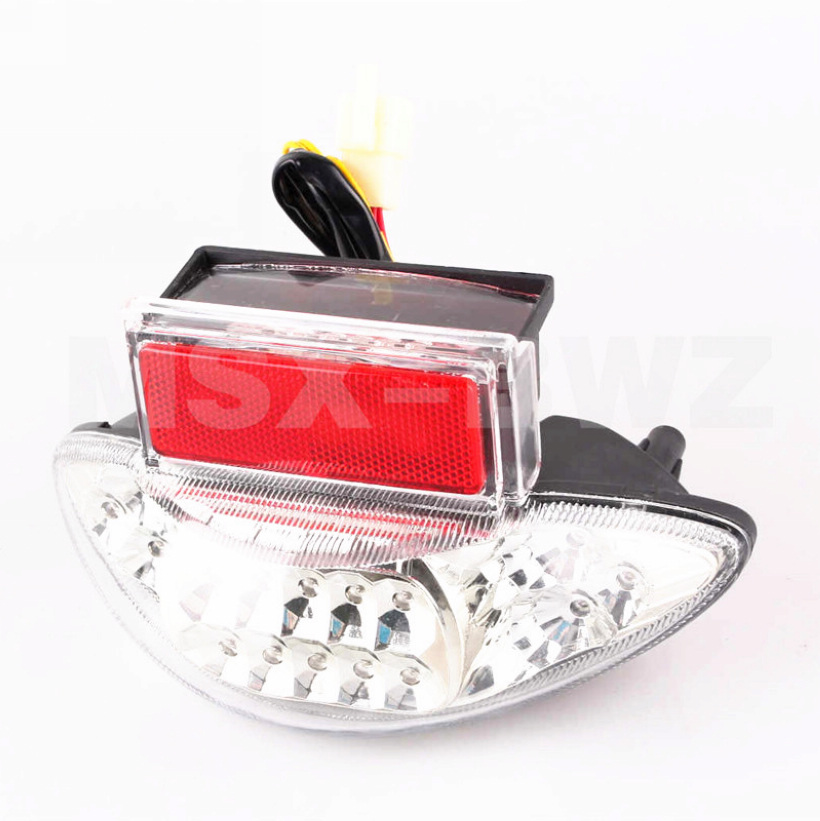 New LED Tail Light Taillight Turn Signal Lamp Suzuki Hayabusa GSX1300R 1999-2007 2000 01 02 03 04 05 06 Clear