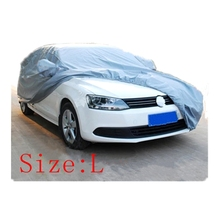 Car covers Size S/M/L/XL Waterproof Full Car Cover Sun UV Snow Dust Rain Resistant Protection Gray free shipping(China (Mainland))