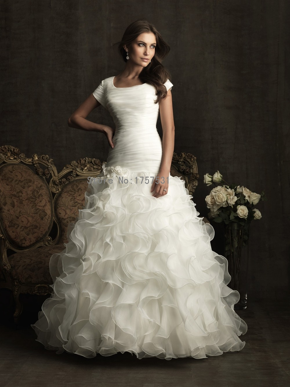 Ball Gown Wedding Dresses With Short Sleeves : Aliexpress buy new simple elegant wedding ball