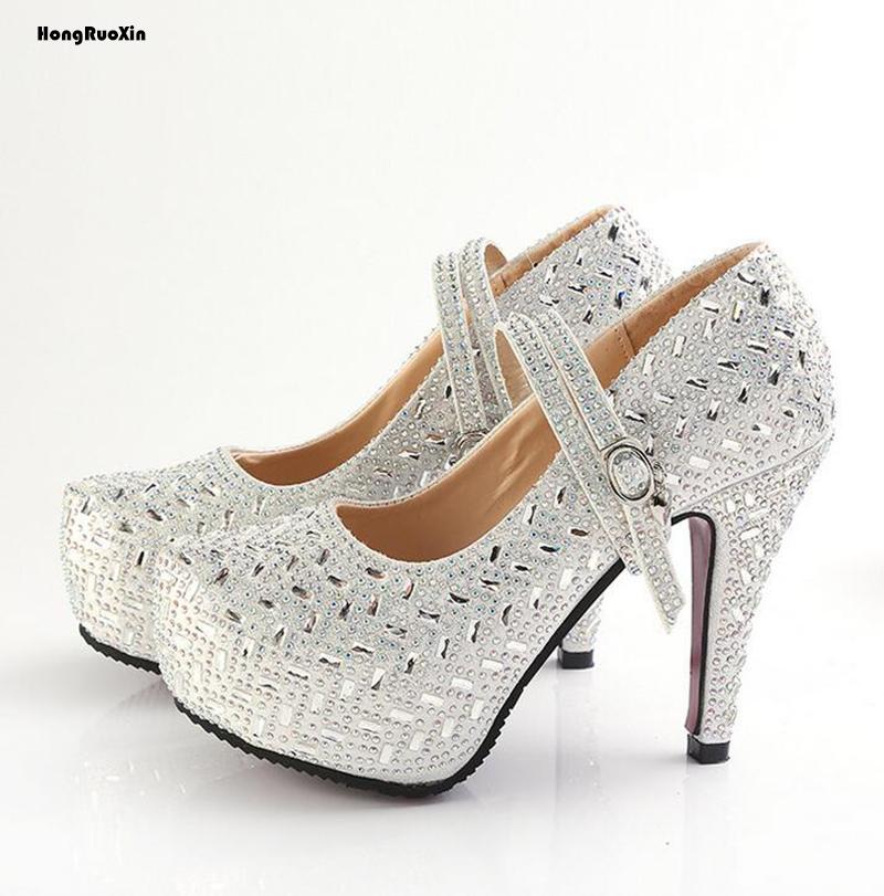 popular silver rhinestone heels buy cheap silver