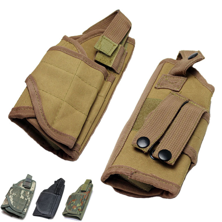 Tactical Airsoft Hunting Nylon Constructed Heavy Duty QD Universal Waist Belt Molle Right-hand Holster Handgun Pouch - Python store
