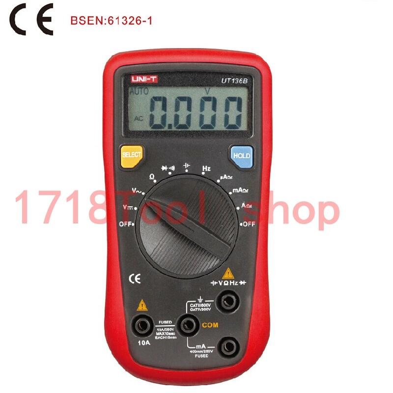 UNI T UT136B DC AC ampere current duty cycle auto range DMM UNI T UT 136B