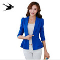Fashion Jacket Blazer Women Suit Foldable Long Sleeves Lapel Coat Candy Color Blazer Single Button Vogue