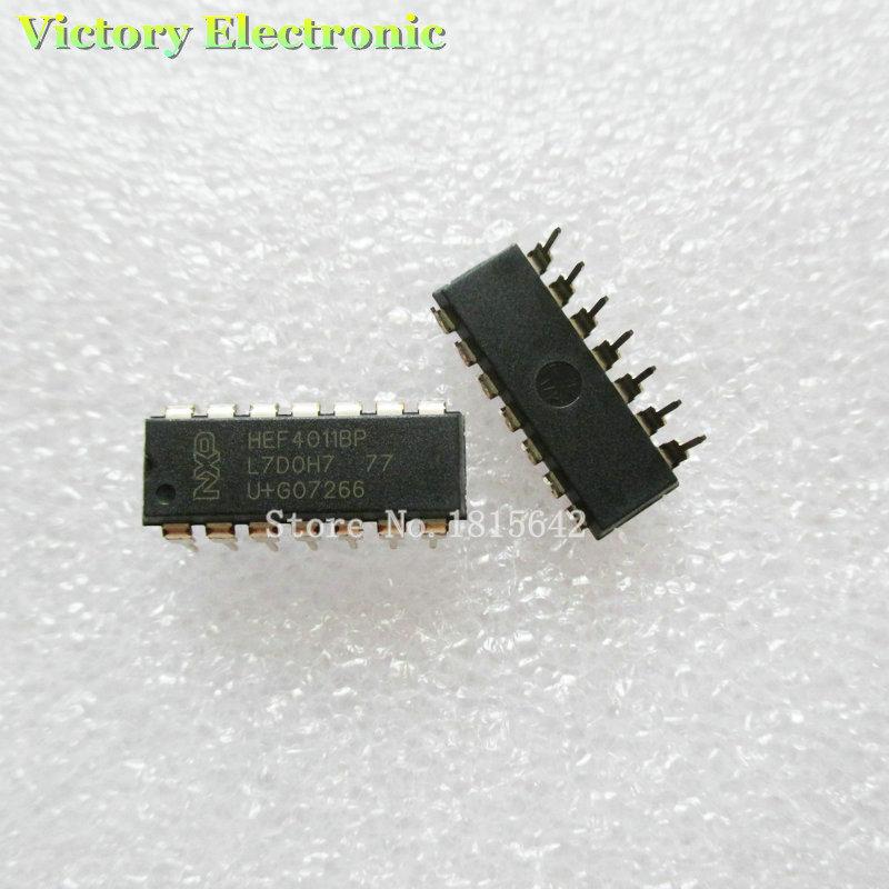 Гаджет  10PCS/Lot Original New CD4011 HEF4011 HCF4011CD4011BE DIP QUAD 2-INPUT NAND GATE IC Wholesale Electronic None Электронные компоненты и материалы
