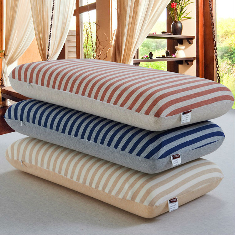 Memory Foam neck Pillows/luxury knitted Cotton bedding/Lumbar/U Pillow(China (Mainland))