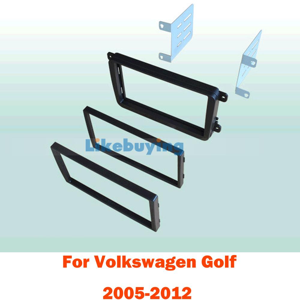 2 Din 172*97.5mm or 177*99.6mm Car Frame Dash Kit / Car Fascias / Panel for Volkswagen Golf 2005 - 2012<br><br>Aliexpress