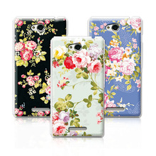Buy 2016 Luxury Floral Painted Case SONY Xperia C S39H C2305 Cover Art printed Flower Cell Phone Case SONY S39H+Free pen for $1.35 in AliExpress store