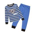 2016 New Arrival Children s Cartoon Monkey Pajamas Set Boys Girls Striped Nightwear Warm Winter Nightgown