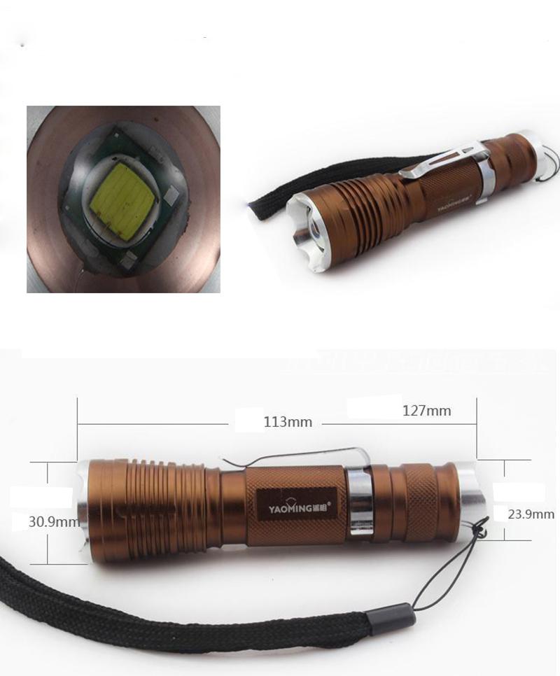 adjustable high power cree xml L2 3800 lumen LED flashlight Police torch zoom lanterna YM-107 XM-L T6 by 18650 free shipping<br><br>Aliexpress