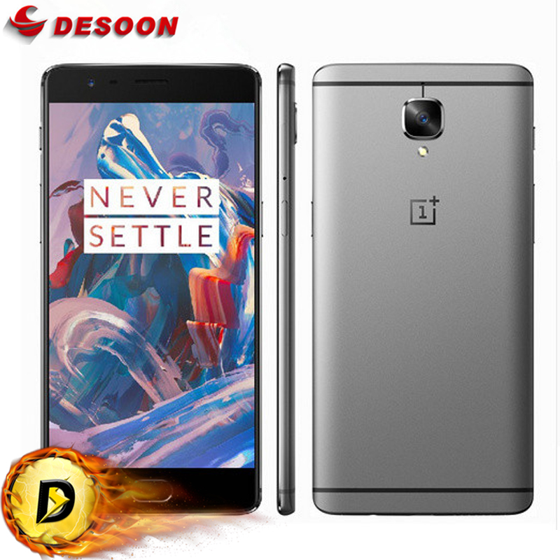 "New Original Oneplus 3 one plus Three Mobile Phone 6GB RAM 64GB ROM Snapdragon 820 Quad Core 5.5"" HD Android 6.0 LTE Fingerprint(China (Mainland))"