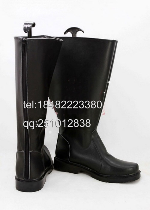 Hot Movie Star Wars Cosplay Halloween Party Shoes Black Boots Customized Size(China (Mainland))