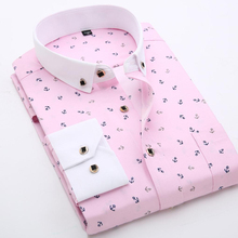 Buy Fashion Brand Polka Dot Men Shirt Long Sleeve Slim Fit Printed Boys Casual Shirts Chemise Homme Camisa Masculina Plus Size 4XL for $12.82 in AliExpress store