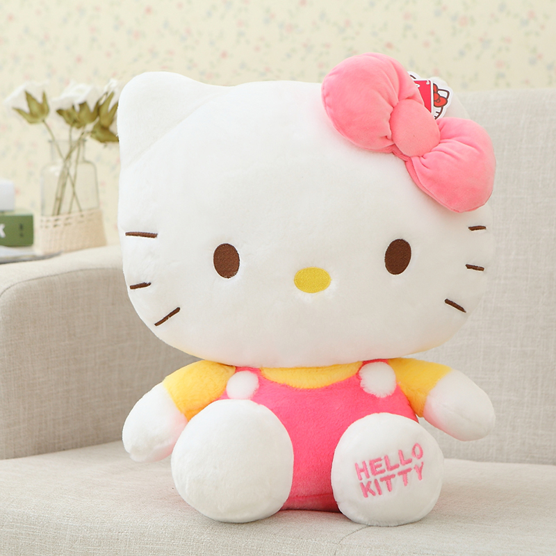 Top Quality Big Hello Kitty Plush Toys Sitting Height 45 cm Soft Stuffed Doll for Children Kids Christmas Birthday Gift Pelucia(China (Mainland))