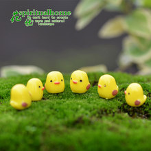 5pcs/pack Mini Resin Yellow Chicks Bonsai DIY Fairy Garden Home Ornament Miniatures Craft Micro Landscape Figures Wholesale Toys(China (Mainland))