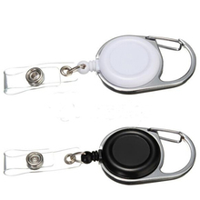 Details about  Retractable Pull Cord Reel Recoil SIA ID Card Badge Holder Belt Clip 1PC (China (Mainland))
