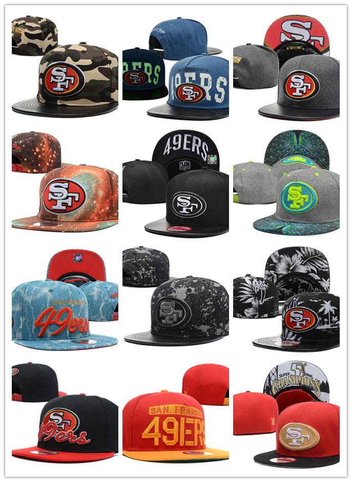 2015 new styles Free fast shipping Best Quality nfl cap San Francisco 49ers bone Adjustable Hat cap baseball Dangle Snapbacks(China (Mainland))