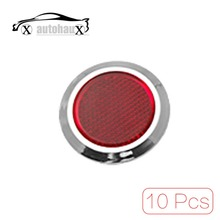 4 Pcs/lot Red Round Car Bumper Door Reflector Set  Discount 50(China (Mainland))