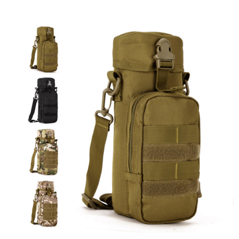Tactical Outdoor Military Shoulder Bag Small 750ml Water Bottle Bicycle bag Camouflage Men Vertical Casual Sport Messenger Bags(China (Mainland))
