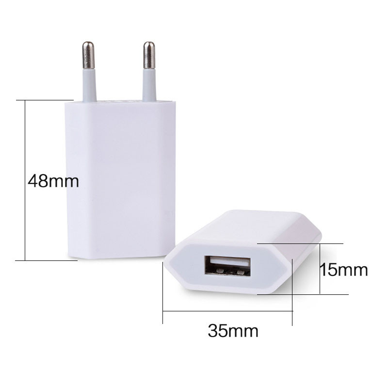 Original Chip 1:1 Copy EU Plug USB Power Home Wall Charger Adapter for iPhone 6 6s plus 5 5S Cell Phone Power Charging Adapter