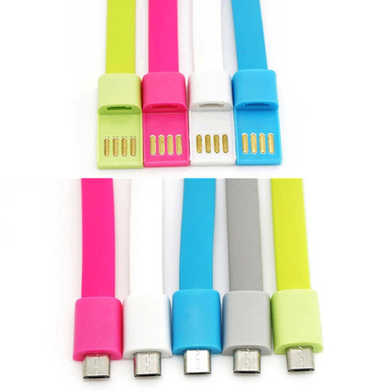 50pcs a Lots New Micro USB Data Sync Charger Cable Bracelet Wrist Band For Mobile Phone For Samsung(China (Mainland))