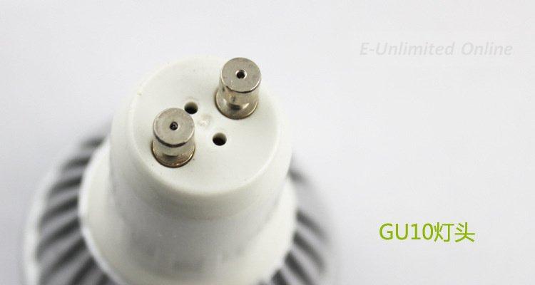 hot100pcs/lot LED Light GU10 3 LED Bulb 3W AC85-265V High Power Light LED Lamp warm/cold white(China (Mainland))