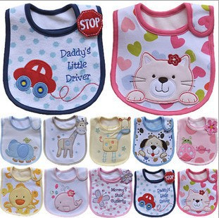Baby bibs Bandana Bibs Burp Cloths baberos Cotton Small Bib babador bebes carters Animal Shaped Waterproof