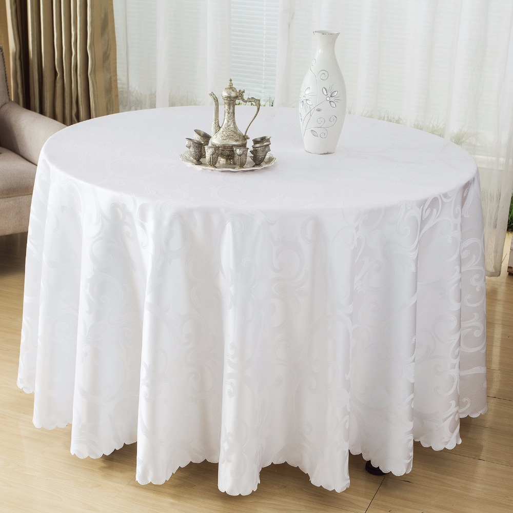 Table Cloth Round Polyester Tablecloths Tablecloths For Wedding Table Cloth Table Cover Wedding Party Restaurant Banquet Home(China (Mainland))