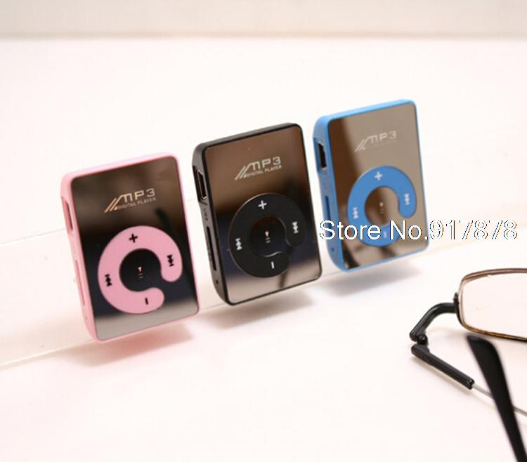 Mini Clip Mp3 Player / Players sport Mirror Mp3 SD/TF card MP3 Music Media +USB cable+ earphone 2015 wholesales(China (Mainland))