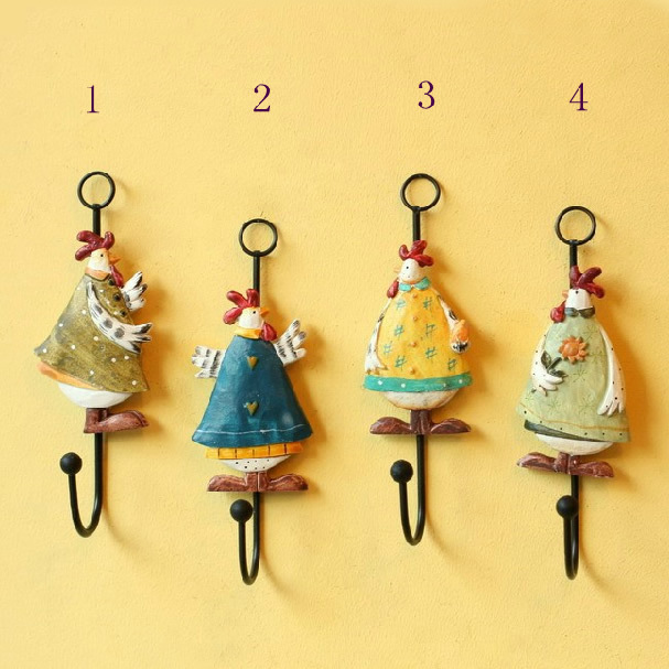 Fashion Rural Style Aesthetic Relief Chickens Resin Coat